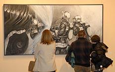 Bomberos de Madrid acercan su trabajo a los madrileños a través de una exposición de pintura