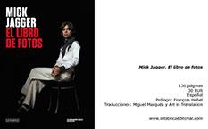 Mick Jagger. El libro de fotos, una colección de 72 retratos