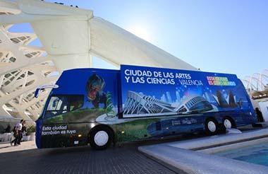 Un bus interactivo de la Ciudad de las Artes y las Ciencias de Valencia visita Madrid