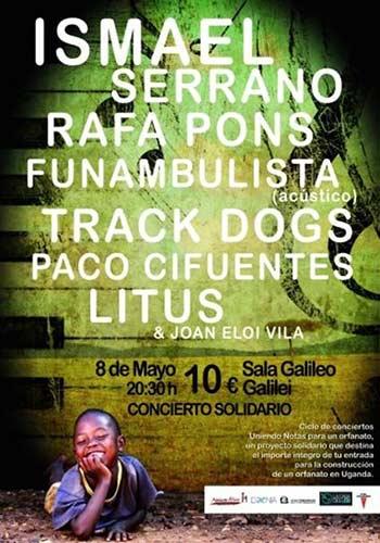 Ismael serrano rafa pons litus funambulista paco for Sala galileo conciertos