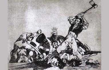 Alcalá 80 acoge las estampas de Los desastres de la guerra de Goya
