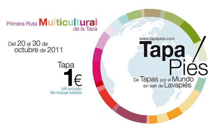Tapapiés: La  Primera Ruta Multicultural de la Tapa de Lavapiés