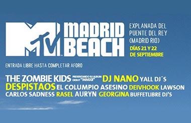 MTV Madrid Beach, un festival gratuito para acabar el verano