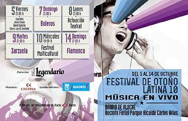Festival de Otoño Latina 10 en el Barrio de Aluche