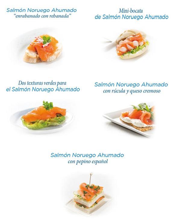 tapas con salmon ahumado