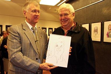 Exposición del famoso caricaturista ruso Vladimir Mochalov en Madrid