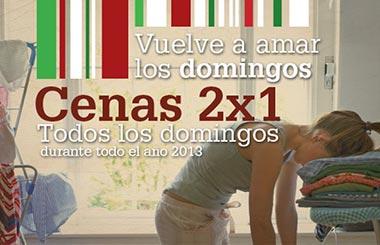 2×1 en GINOS todos los domingos durante el 2013