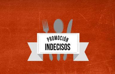 """Vuelve la """"Promoción Indecisos"""" de GINOS hasta el 16 de mayo de 2013"""