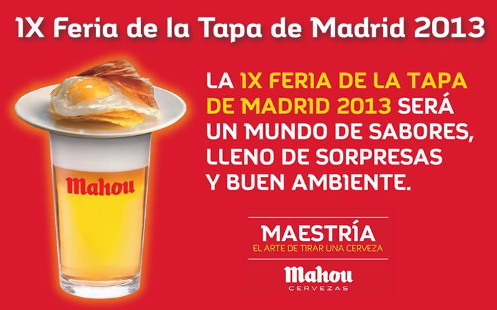 Tapeo Mahou, Feria de la Tapa de Madrid del 9 al 12 de mayo en el Palacio de Deportes