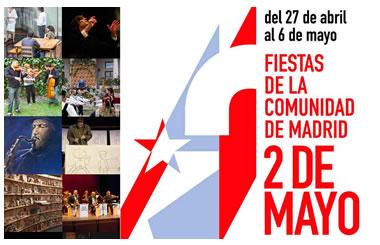 Programación Fiestas del 2 de Mayo Madrid 2013