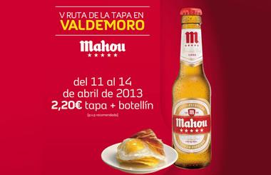 La V Ruta de las Tapas de Valdemoro del 11 al 14 de abril de 2013