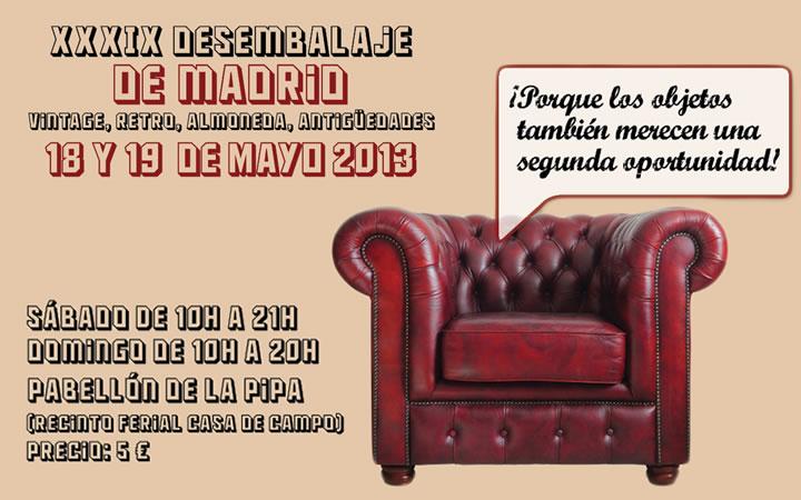 XXXIX Desembalaje de Madrid, feria con objetos vintage, retro, almoneda y antigüedades