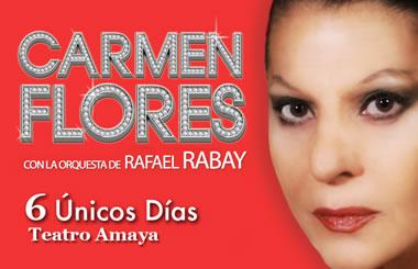 """Sorteamos 20 entradas dobles para ver a """"Carmen Flores"""" en el Teatro Amaya"""