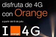 Estas vacaciones Orange ofrecerá la cobertura móvil 4G en España, a partir del 8 de julio