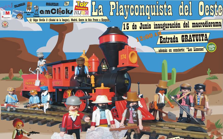 TOY MARKET Madrid conmemora la Conquista del Oeste con un megadiorama de Playmobil de 70 metros cuadrados
