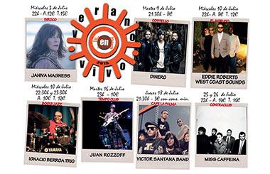 Veranos en vivo 2013. Conciertos de La Noche en Vivo en los Veranos de la Villa