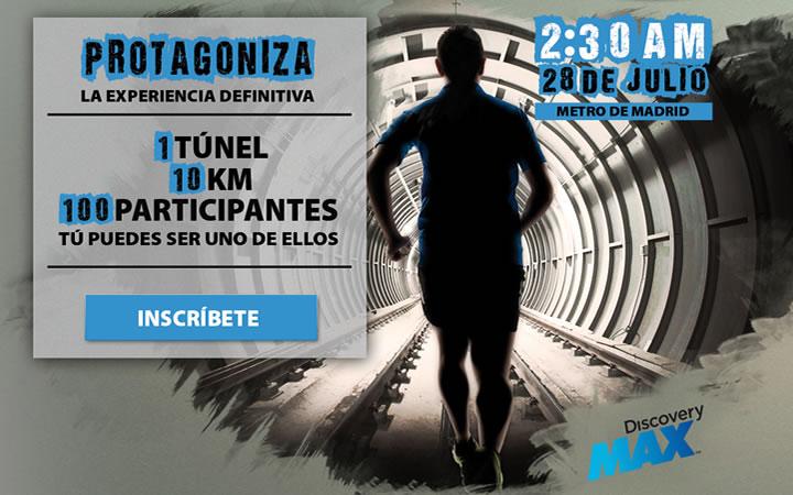 Discovery Underground, la primera carrera por los túneles de Metro de Madrid en apoyo a la candidatura Madrid 2020
