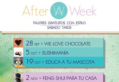 AFTER WEEK, talleres gratuitos en el Centro Comercial Zielo Shopping Pozuelo