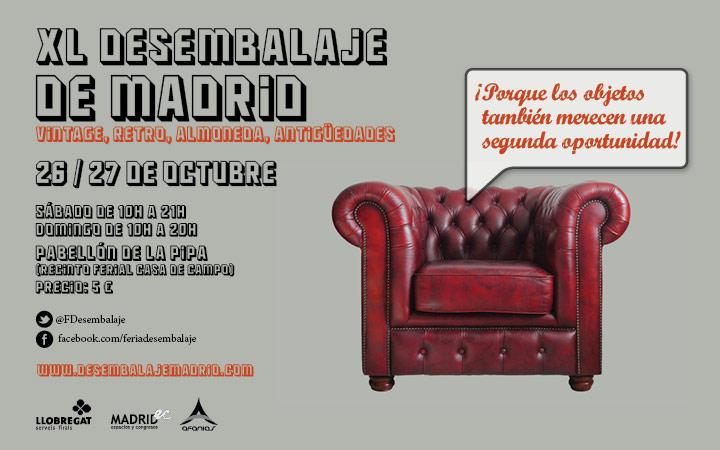 XL Feria Desembalaje de Madrid, objetos vintage, retro, almoneda y antigüedades