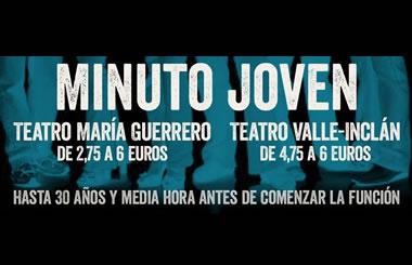 """""""El minuto joven"""" del Centro Dramático Nacional te invita a disfrutar del teatro con descuentos del 75%"""