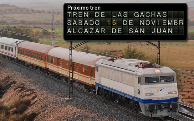 Tren de las Gachas: Madrid – Alcázar de San Juan el sábado 16 de noviembre