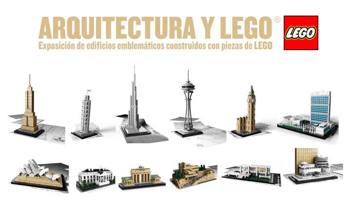 Exposición de edificios emblemáticos construidos con Piezas de LEGO