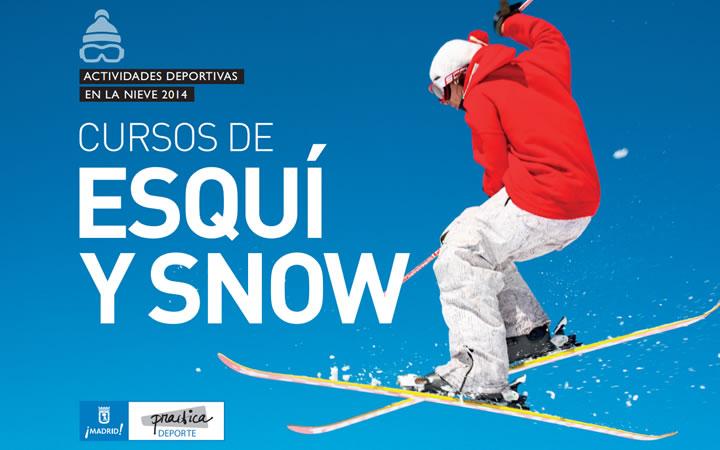 Cursos de esquí y snowboard del Ayuntamiento de Madrid para la temporada de invierno 2014