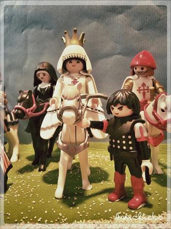 Diorama de Playmobil isabel