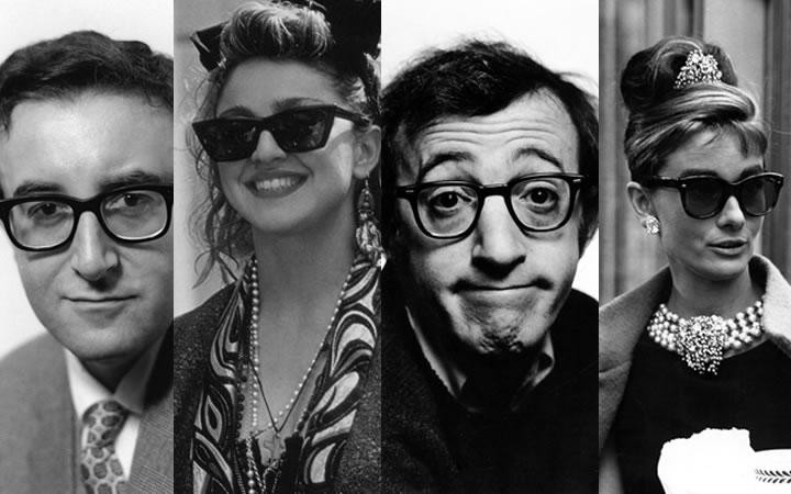 Las gafas más emblemáticas de la historia del cine y la música en una exposición en la sala Mondo Galería