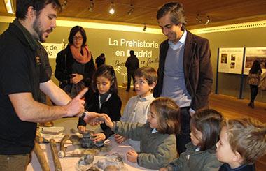 """Exposición """"La Prehistoria en Madrid, descúbrela en familia"""""""