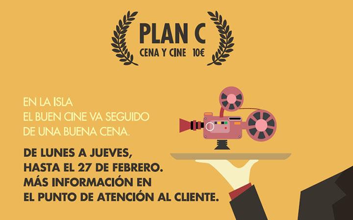 """Regresa la promoción """"Plan C: Cine y Cena 10€"""" en el Centro Comercial Islazul"""