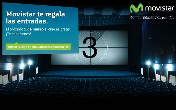 Movistar regala entradas de cine el domingo 9 de marzo