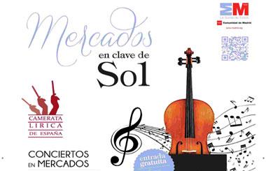 """""""Mercados en Clave de Sol"""", conciertos gratuitos en Mercados de Madrid"""