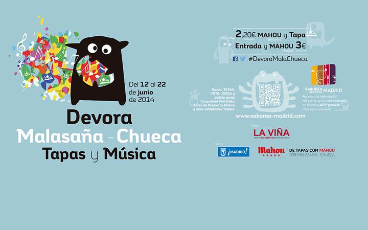Devora Malasaña-Chueca, ruta de Tapas y Música del 12 al 22 de junio