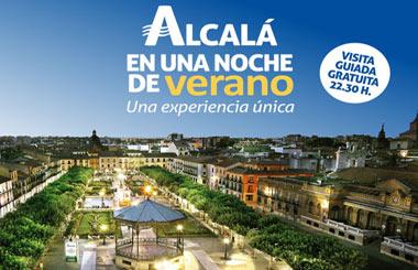 Alcalá en una Noche de Verano, visitas guiadas gratuitas hasta septiembre