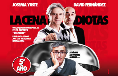 """Sorteamos 5 entradas dobles para """"La cena de los idiotas"""" en el Teatro La Latina"""