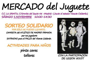 Edición solidaria Mercado del Juguete de Madrid para la escolarización de niños sin recursos