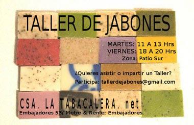 Taller de Jabones gratuito en La Tabacalera