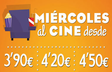 Miércoles al Cine desde 3,90€, hasta el 28 de enero de 2015