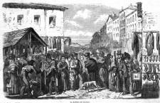 El Rastro de Madrid, de Daniel Perea. Publicado en 1859 en El Museo Universal