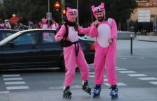 Ruta de Carnaval en patines por Madrid Río 2018