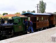 Viaje nostálgico en el Tren histórico de Arganda primavera 2020