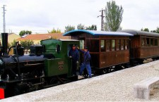 Viaje nostálgico en el Tren histórico de Arganda primavera 2016
