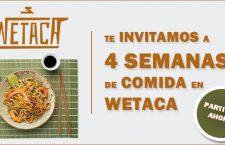 Sorteamos 4 semanas de comida a domicilio con Wetaca