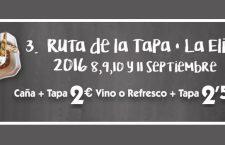 III Ruta de la Tapa de La Elipa, del 8 al 11 de septiembre de 2016