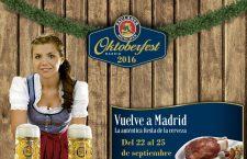 Madrid Oktoberfest 2016, del 22 al 25 de septiembre