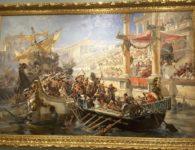 La Naumaquia (Combate naval entre romanos)