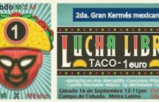 Fiesta mexicana en el Campo de Cebada, sábado 16 de septiembre 2017