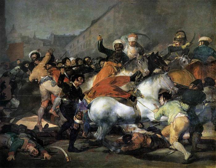 """""""Carga de los Mamelucos"""" de Francisco de Goya"""
