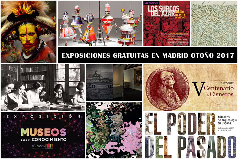 Exposiciones interesantes y gratuitas que puedes disfrutar este otoño 2017 en Madrid